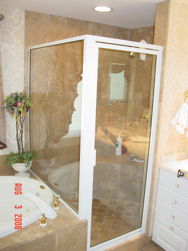 White Shower Doors Golden Gate, Florida