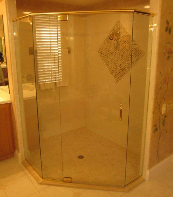 Brass Shower Doors Naples, Florida