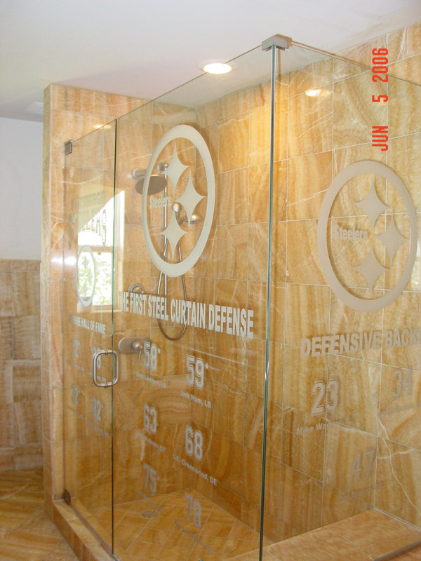 Carved Glass Shower Doors Ft Myers, Florida