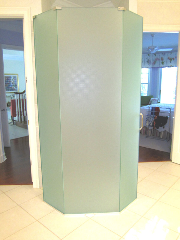 Frosted Shower Doors Ft Myers, Florida