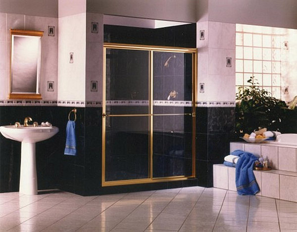 Gold Shower Doors Naples, Florida